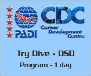 PADI DSD Try diving program