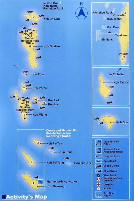 Similan Islands Dive Sites All4Diving