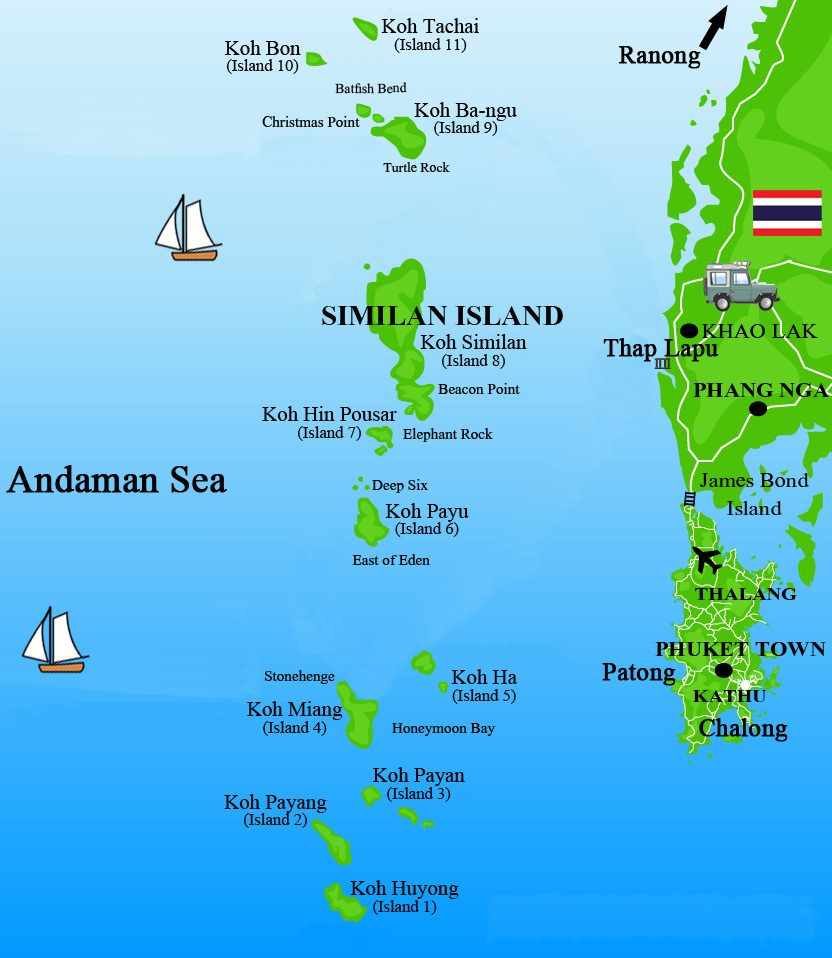 All4Diving Similan Islands Mu Ko Similan Park Topography Climate